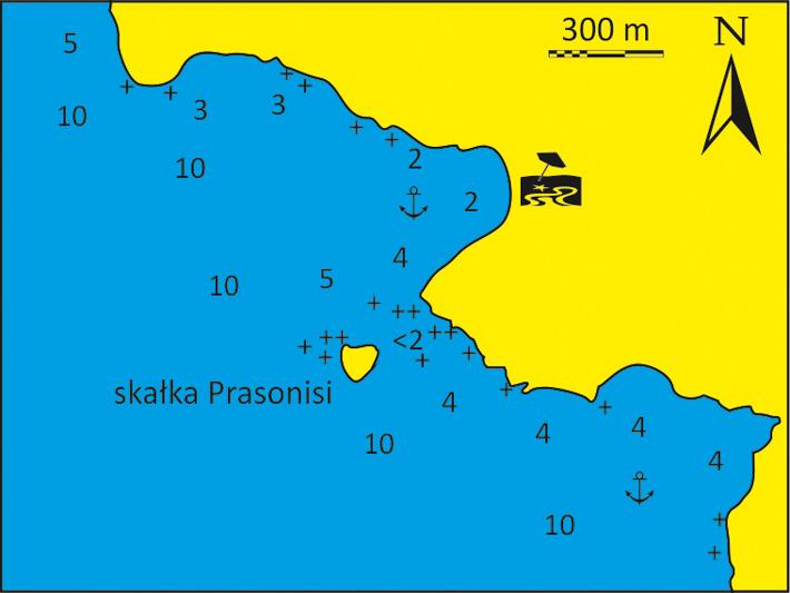 mapka zatoki Klima na Ios