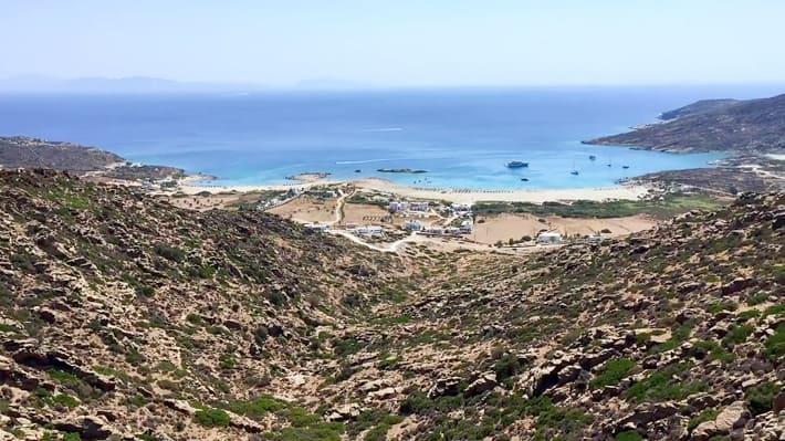 Zatoka Manganari na Ios