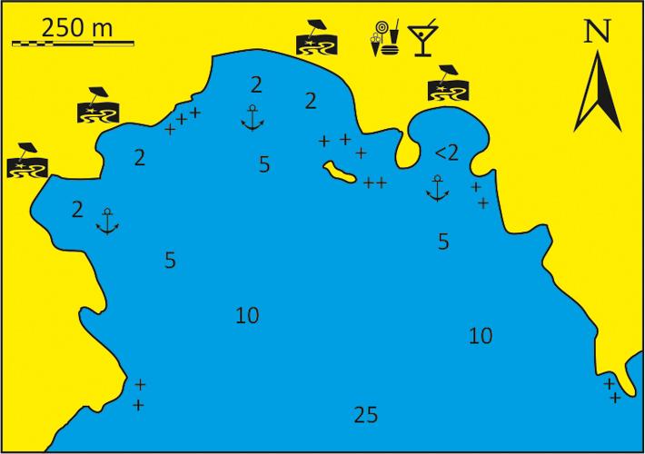 mapka zatoki Manganari