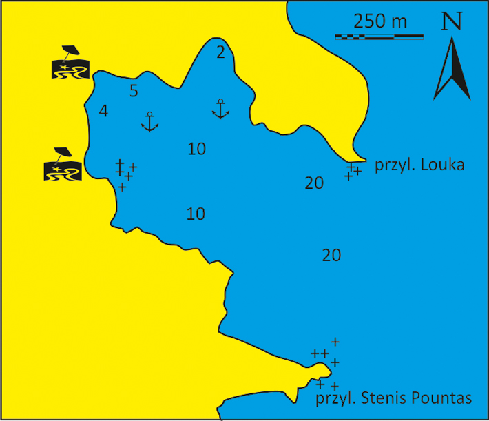 mapka zatoki Tris Klises