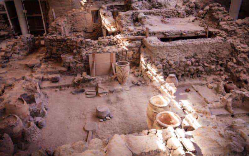 wykopaliska Akrotiri