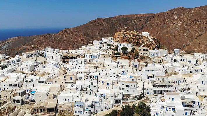 Miasto Chora na wyspie Anafi