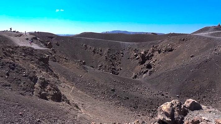 Nea kameni wokół wulkanu