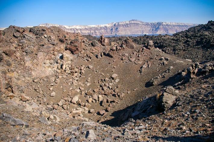Nea kameni krater wulkanu