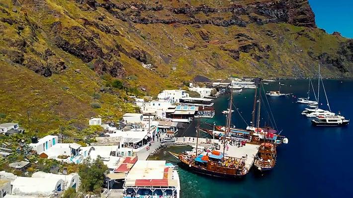 Thirassia zatoka Korfos